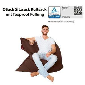 QSack Kunstleder Sitzsack Kultsack Toxproof